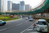 Overhead bridge is built to ease the traffic in Macau — Stock Photo