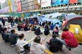 Hong Kong attivisti stanno combattendo per il loro diritto di scelta per t — Foto Stock
