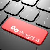 Progress keyboard — Stock Photo