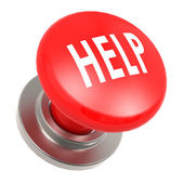Red help button — Stock Photo