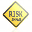 Risk ahead road sign — Stock Photo #61353829