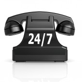 Black 247 phone — Stock Photo