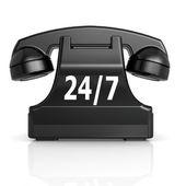 Black 247 phone — Stock Photo