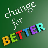 Change for better — Stock Photo