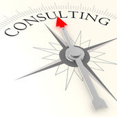 Consulting compass — Stockfoto