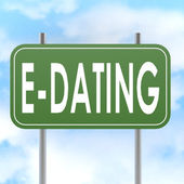 E dating road sign — Stock Photo