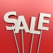Sale word on red background — Stock Photo