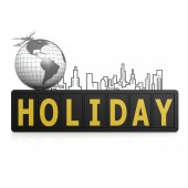 Holiday sign — Stock Photo