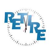 Retire word with clock — Stock Photo