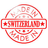 Made in Switzerland red seal — Foto Stock