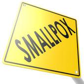 Smallpox road sign — Fotografia Stock