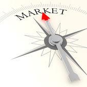 Market compass sign — Stock Photo