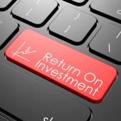 Return on investment keyboard — Stock Photo