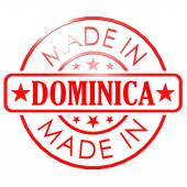 Made in Dominica red seal — Stock Photo