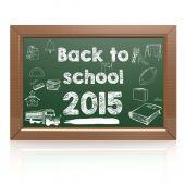 Back to school 2015 green blackboard — Stock Photo