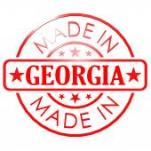 Made in Georgia red seal — Stock Photo