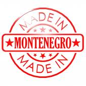 Made in Montenegro red seal — Stock Photo