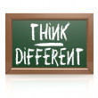 Think Different written with chalk on blackboard — Stock Photo #67886225