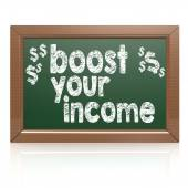 Boost Your Income on a chalkboard — Stock Photo