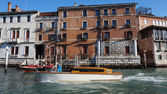 Motorboat is sailing on Grand Canal — Foto de Stock