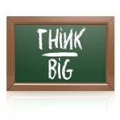 Think Big written with chalk on blackboard — Stock Photo