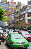 Bangkok taxi on the street in Bangkok — Stock Photo