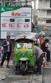 "Traditional Street Taxi ""tuk-tuk"" Awaits Passengers On A Street  — Stock Photo"