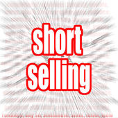 Short selling word — Stock Photo
