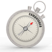 Competence word in the compass — Stock Photo