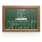 Be Different written with chalk on blackboard — Stock Photo