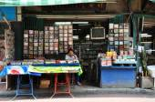 Vendor sells CD and movie on the street in Chinatown, Bangkok — Stock Photo