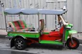 "Traditional street taxi ""tuk-tuk"" on a street — Stock Photo"