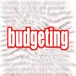 Budgettering word cloud — Stockfoto #71945883