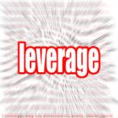 Leverage word cloud — Stock Photo