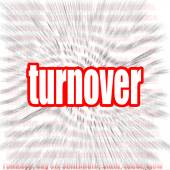 Turnover word cloud — Stock Photo