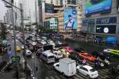 Heavy downpour floods Bangkok — Stock Photo