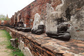 Ancient Buddha statue at Wat Yai Chaimongkol — Stock Photo