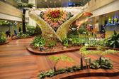 Enchanted garden at Changi international airport, Singapore — Stock Photo