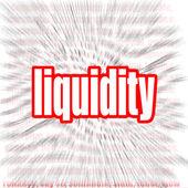 Liquidity word cloud — Stock Photo