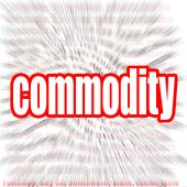 Commodity word cloud — Stock Photo