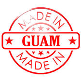 Made in Guam red seal — Stock Photo
