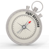 Right direction compass — Stock Photo