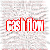 Cash flow word cloud — Stock Photo