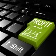 Profit word on the green enter keyboard — Stock Photo #73980205