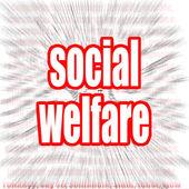 Social welfare word cloud — Stock Photo