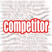Competitor word cloud — Stock Photo