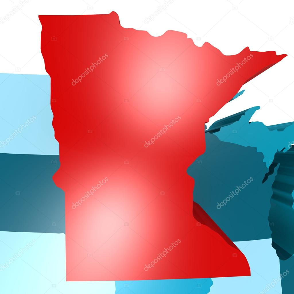 Geographical Map Of Minnesota And Minnesota Geographical Maps - Minnesota map usa