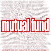 Mutual fund word cloud — Stock Photo