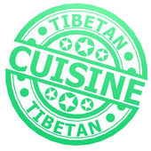 Tibetan cuisine stamp — Stock Photo