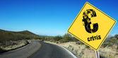 Euro crisis sign — Stock Photo